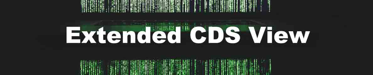 Extended CDS View – SAP Generation n><t…
