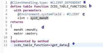 Table Function with Parameters – SAP Generation n><t…