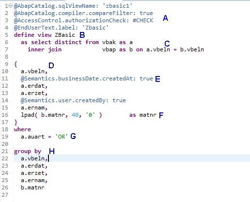 Basic CDS View – SAP Generation n><t…