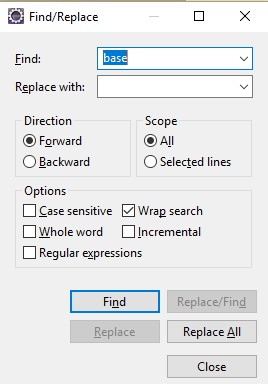 SearchCtrl+f