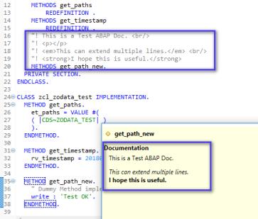ABAP Doc @Eclipse – SAP Generation n><t…